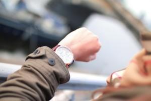 dlon z zegarkiem