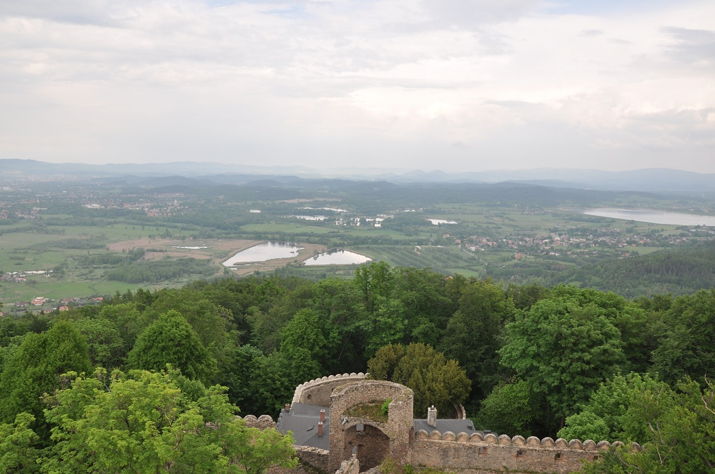 panorama z zamku chojnik